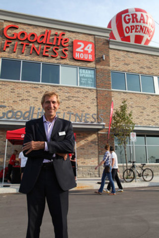 GoodLife Fitness Founder and CEO, David 'Patch' Patchell-Evans stands outside a GoodLife Fitness club in Ontario. The company announced today that it will hire 600 new staff by end of August 2017 and open a new Home Office in November. (CNW Group/GoodLife Fitness)