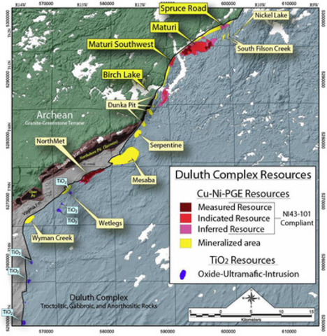 Figure 3 - Regional Geology and Deposits (CNW Group/Duluth Metals Limited)