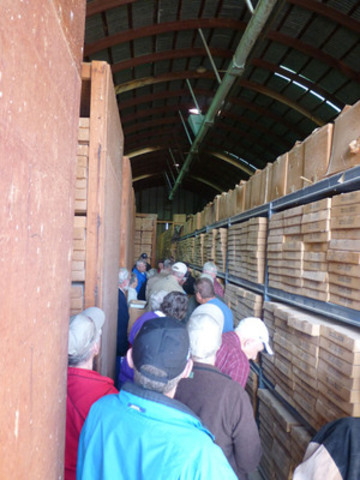 Local stakeholders tour the core library on site at Florence Copper, which holds more than 120 miles of core samples used to research the copper ore. (CNW Group/Curis Resources Ltd.)