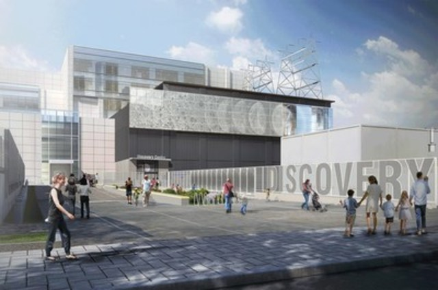 Image rendering of the New Discovery Centre, set to open at 1215 Lower Water Street in early 2017. Photo provided by: Discovery Centre. (CNW Group/IMP GROUP LTD.)