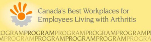 Canada's Best Workplaces for Employees Living with Arthritis (CNW Group/Arthritis Consumer Experts)