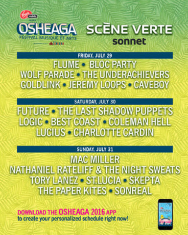 Sonnet, Canada's smart new insurance, done completely online, today amps up its support of fan experiences by announcing a partnership with Osheaga Music and Arts Festival. (CNW Group/Sonnet Insurance Company)