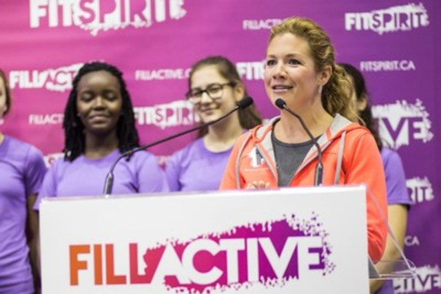 Sophie Grégoire Trudeau annonce son rôle de porte-parole officielle de Fillactive. (Groupe CNW/Fillactive)