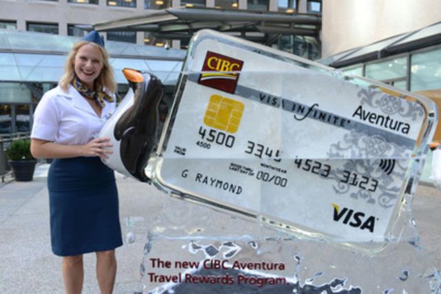 La Banque CIBC lance le nouveau Programme de primes voyages Aventura permettant aux clients de gagner plus de points et de voyager plus vite (Groupe CNW/Banque CIBC)