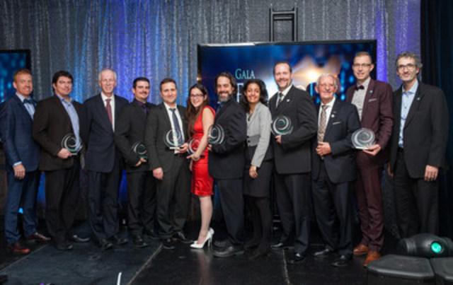 Lauréats des prix EnviroLys 2016 (Groupe CNW/Conseil des entreprises en technologies environnementales (CETEQ))