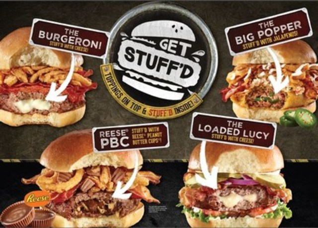 GET STUFF'D with four new STUFF'D burgers at The WORKS (CNW Group/The WORKS Gourmet Burger Bistro)