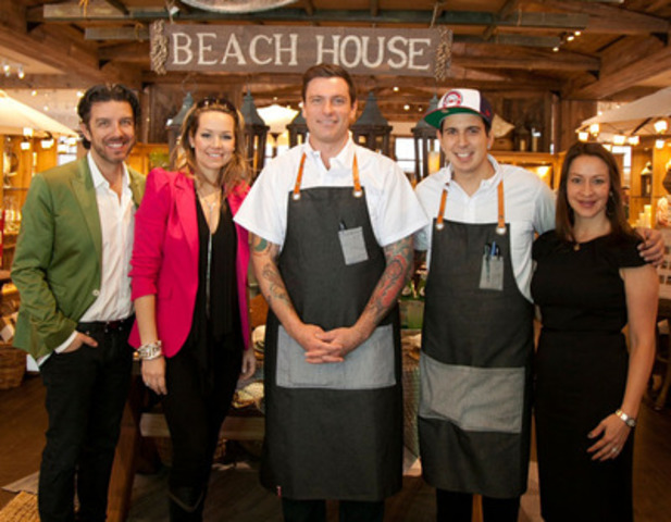 Jean Airoldi, Valérie Taillefer, Chuck Hughes, Danny Smiles and Leigh Oshirak at Pottery Barn. Pottery Barn, Pottery Barn Kids and Williams Sonoma officially open their doors to the public at the Quartier DIX30 on Thursday March 28th. (CNW Group/Williams-Sonoma, Inc.) (CNW Group/Williams-Sonoma, Inc.)