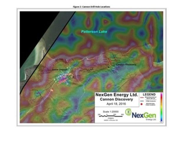 Figure 2: Cannon Drill Hole Locations (CNW Group/NexGen Energy Ltd.)