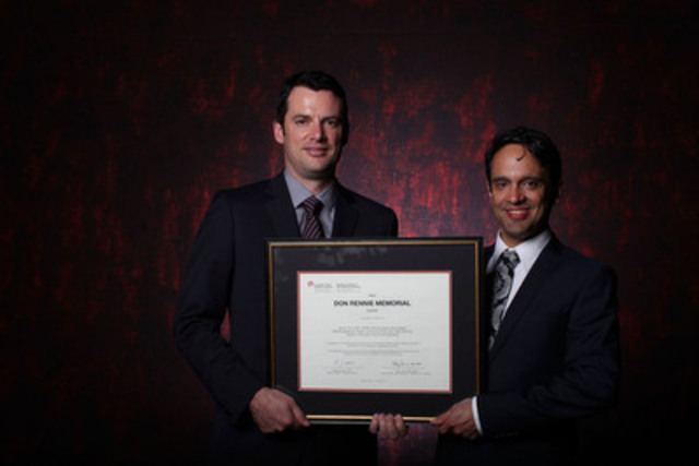 Brendan Agnew-Iler (left) and Daniel Tisch APR, FCPRS of Argyle Communications accept the CPRS Don Rennie Memorial Award at the 2013 CPRS National Awards Gala. (CNW Group/Canadian Public Relations Society)