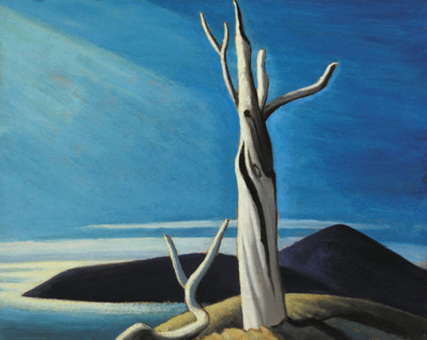 Among the highlights in Heffel's spring collection are important works by the Group of Seven, including Lawren Harris' compelling Lake Superior Sketch LXI (est. $500,000 - 700,000). (CNW Group/Heffel Fine Art Auction House)