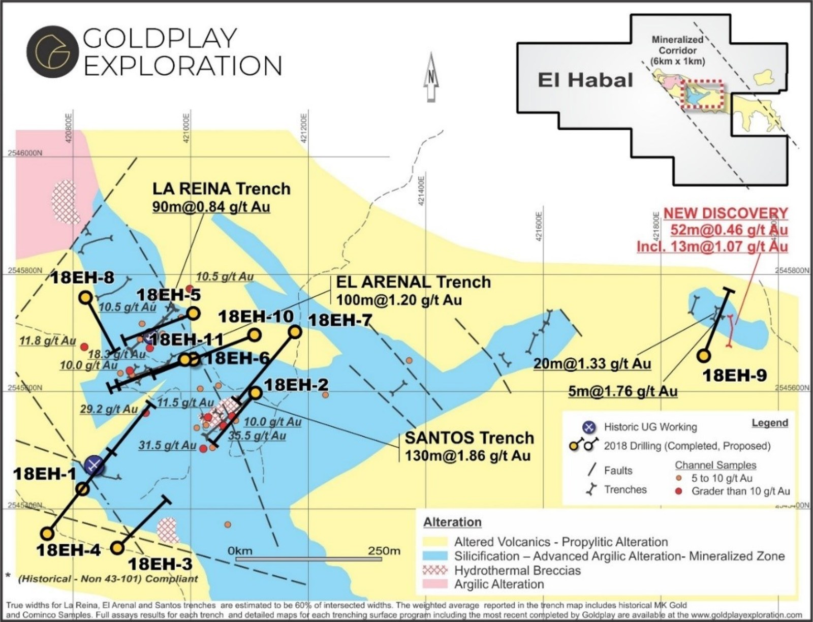 Figure 5: El Habal Project - Drill Hole Location and Geology Map