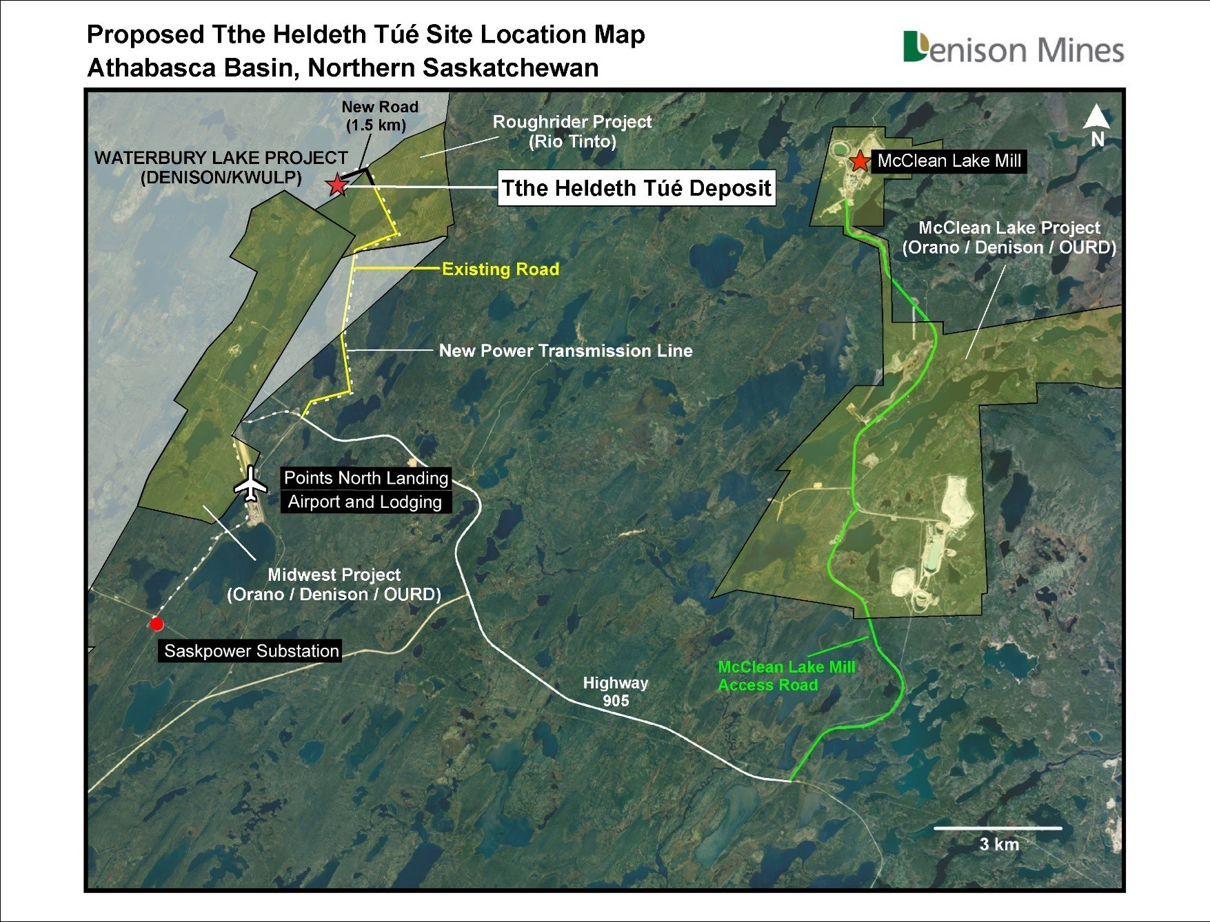 Figure 4 Proposed Tthe Heldeth Túé Site Location Map (CNW Group/Denison Mines Corp.)