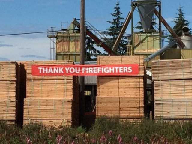 Delta Firefighters' Fast Response Averted Economic Disaster (CNW Group/British Columbia Professional Fire Fighters Burn Fund)