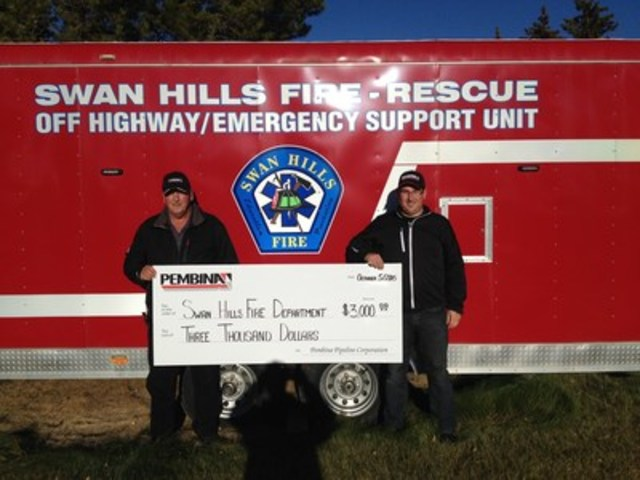 Photo courtesy of the Swan Hills Fire Department (CNW Group/Pembina Pipeline Corporation)
