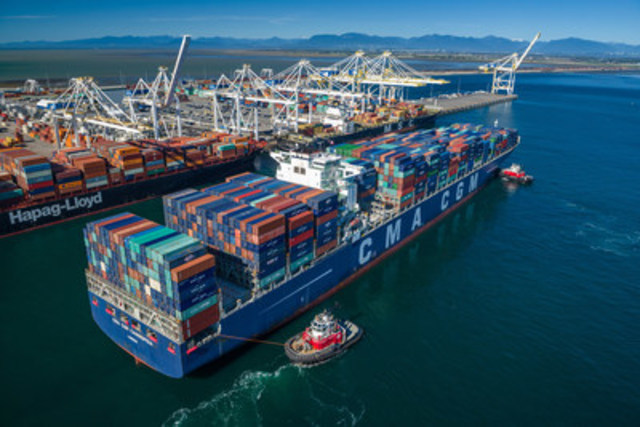 """Largest vessels calling Port Metro Vancouver at GCT Deltaport"" (CNW Group/GCT Global Container Terminals Inc.)"