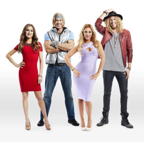 (L-R): Nikki Grahame (Big Brother UK), Jase Wirey (Big Brother US), Veronica Graf (Big Brother Italy), and Tim Dormer (Big Brother Australia) (CNW Group/Shaw Media)