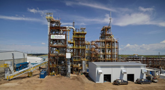 Enerkem's newly launched municipal waste-to-biofuels and chemicals facility in Edmonton, Alberta, Canada. (CNW Group/ENERKEM INC.)