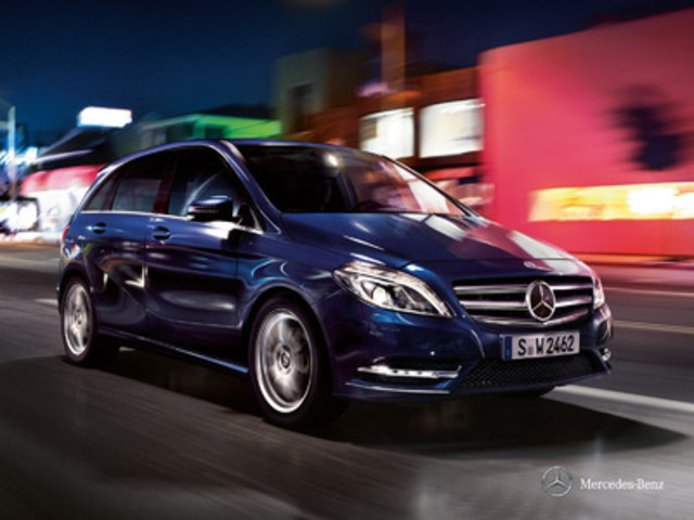 The versatile, powerful and fuel efficient B 250 will be the perfect complement to the colourful personalities and active lifestyles of the Mercedes-Benz Social Ambassadors (CNW Group/Mercedes-Benz Canada Inc.)