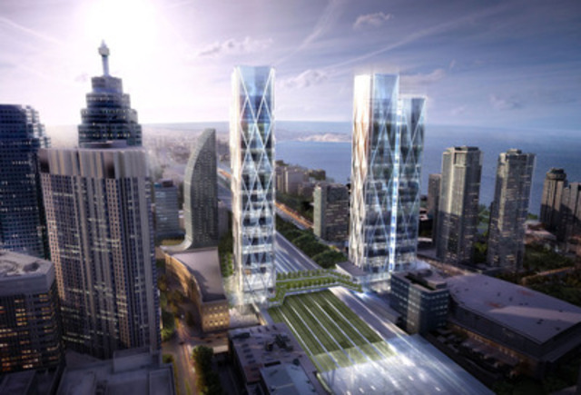 Ivanhoé Cambridge and Metrolinx working together on 45-141 Bay Street, a large-scale transit-oriented real estate project in heart of Toronto's financial core (CNW Group/Ivanhoé Cambridge)