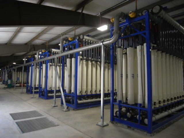 Ultrafiltration system, Clifton Water District, Colorado, 12 MGD (45,400 m3/day) (CNW Group/H2O Innovation Inc.)