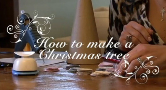 Make a beautiful tree decoration out of old greeting cards. Toronto Hydro shows you how.