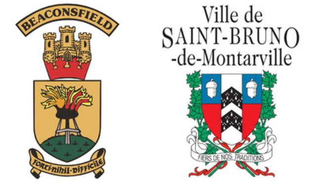 Ville de Beaconsfield et Ville de Saint-Bruno-de-Montarville. (Groupe CNW/Ville de Saint-Bruno-de-Montarville)