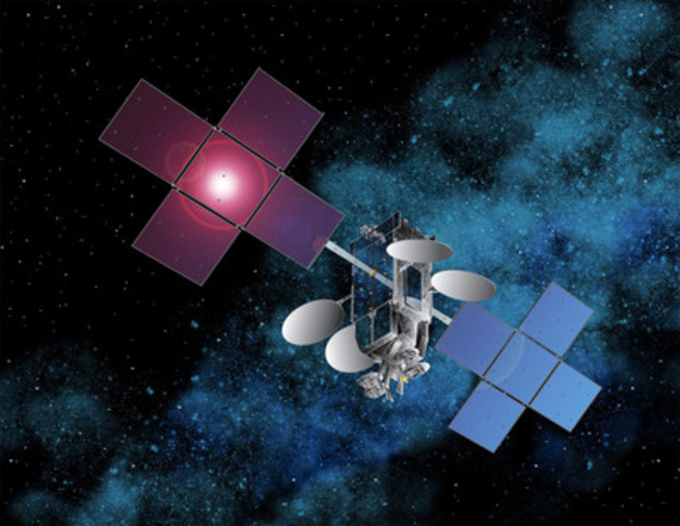 An artists rendering of EchoStar XVII, a new broadband satellite to be used by Xplornet. Image courtesy of Space Systems/Loral. (CNW Group/Xplornet Communications Inc.)