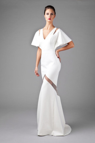 Starting on December 2, this one-of-a-kind winter-white formal gown from the VAWK for eBay Holiday collection will be sold at auction starting at 99 cents with proceeds benefitting Kids Help Phone. The gown and additional pieces from the limited-edition capsule collection can be found exclusively at eBay.ca/VAWKHoliday. (CNW Group/eBay Canada)