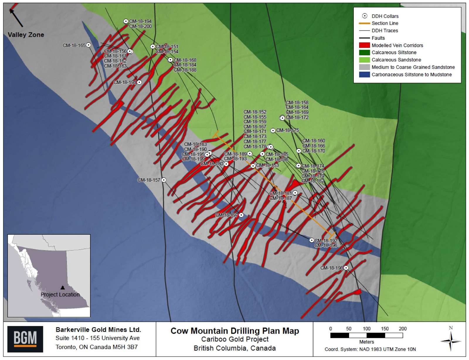 Cow Mountain Drilling Plan Map