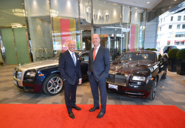 Paul Cummings, President of Rolls-Royce Motor Cars Toronto (left) and Neil Labatte, President and CEO of Talon International Development Inc. and Talon Luxury Collection (right). (Photographer: Nicola Betts) (CNW Group/Grand Touring Automobiles)