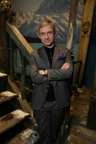 Actor Martin Freeman, who plays Bilbo Baggins, on the Lake-town set of the giant pop-up book of New Zealand. (CNW Group/Tourism New Zealand)