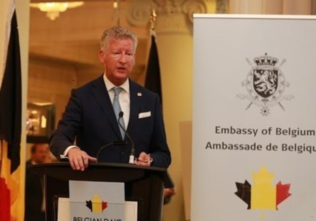 """Other than our geographical size difference Canada and Belgium are very similar. We have multicultural societies, similar values and open economies. We look forward to more partnerships, investments and innovative opportunities between our countries, "" said Belgium Secretary of State for Foreign Trade Pieter De Crem. To find out more http://focusonbelgium.be, @EmbassyBelgCA (CNW Group/Embassy of Belgium in Canada)"
