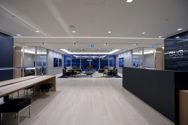 View of BLG's new reception area on the 34th floor of the Bay Adelaide Centre, East Tower. (CNW Group/Borden Ladner Gervais LLP)