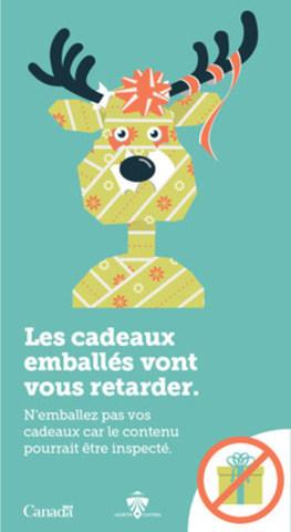 N'emballez pas vos cadeaux. (Groupe CNW/Administration canadienne de la sûreté du transport aérien (ACSTA))