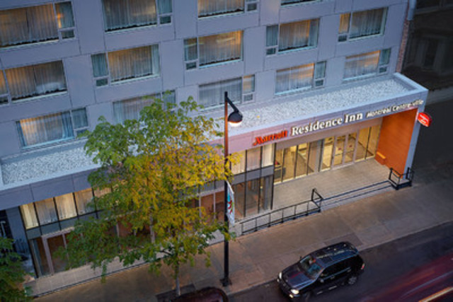 Residence Inn Montreal Downtown has just completed a multi-million dollar floor-to-ceiling renovation to modernize all suites and public spaces. (CNW Group/Marriott Hotels & Resorts Canada)