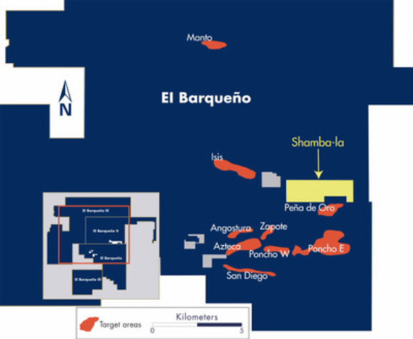 Figure 1 - El Barqueño Claim Map (CNW Group/Cayden Resources Inc.)