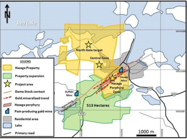 Figure 1 - Expanded Hasaga Property (CNW Group/Premier Gold Mines Limited)