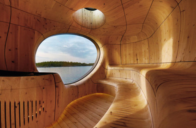 Ontario Wood Award Winner: Grotto, San Souci, ON; Architect:  Partisan Projects; Engineer:  Moses Structural ...