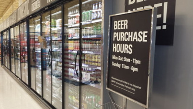 No visible FASD poster where you get beer at the Loblaws location at Erin Mills Town Centre in Mississauga, ...
