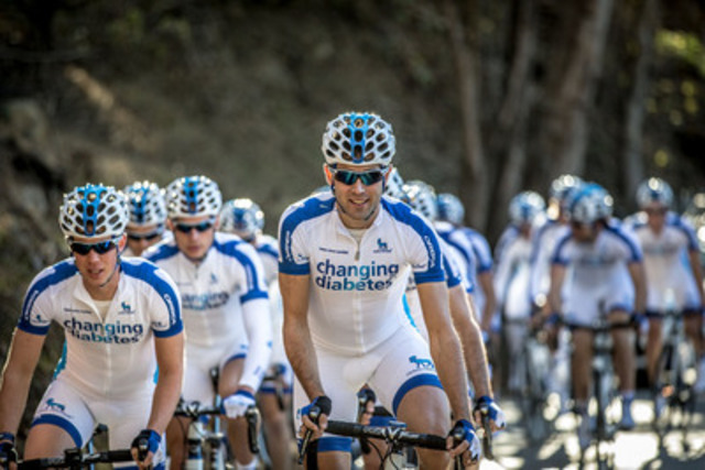 Team Novo Nordisk, the world's first all-diabetes professional cycling team, races in Tour de Beauce (CNW Group/Novo Nordisk Canada Inc.)