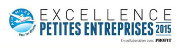AIR MILES(md) Pour les affaires récompense les entrepreneurs d'exception lors de la cérémonie de remise des Prix d'excellence pour petites entreprises 2015. (Groupe CNW/Programme de récompense AIR MILES)