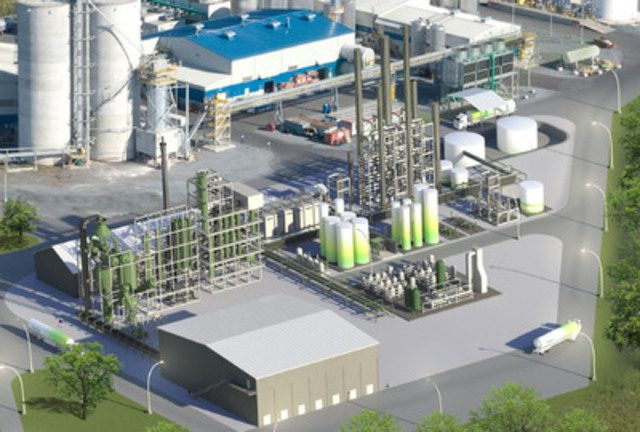 Quebec's first commercial waste-to-ethanol facility in Varennes. (CNW Group/ENERKEM INC.)