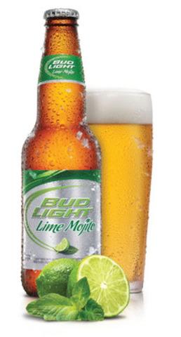 La Bud Light Lime Mojito est maintenant disponible au Québec. Inspirée par l'un des cocktails les plus populaires au monde, la Bud Light Lime Mojito est une bière légère avec une touche subtile de lime et de menthe fraîche qui évoque le mojito traditionnel. (Groupe CNW/LA BRASSERIE LABATT LIMITEE)
