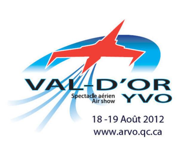 Logo Spectacle aérien VAL D'OR 18-19 Août 2012. (Groupe CNW/Spectacle aérien de Val-d'Or)