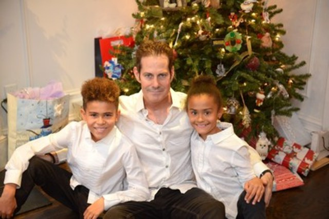 Sean O'Donoghue and his children (CNW Group/Canadian Cancer Society (National Office))