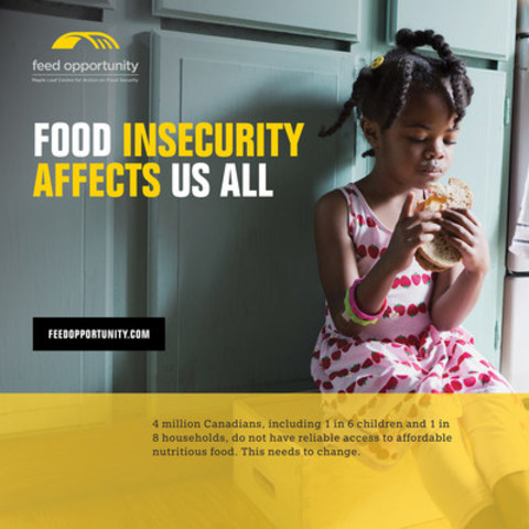Food insecurity affects us all (CNW Group/Maple Leaf Foods Inc.)