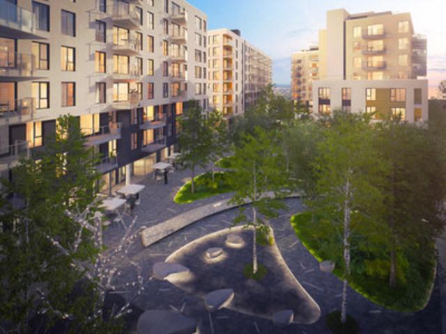 Arbora est un nouveau complexe residentiel et commercial situe dans Griffintown, le plus important projet d'habitation dote d'une structure en bois au Quebec. (Groupe CNW/LSR GesDev)