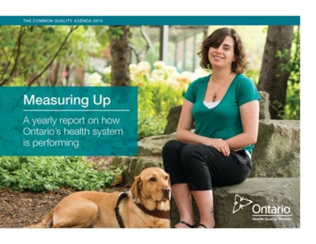 "Measuring Up: A yearly report on how Ontario's health system is performing"" (CNW Group/Health Quality ..."