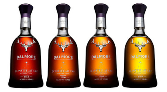 The Dalmore Constellation Collection - THE 60s Set, featuring four of the world's rarest single malt whiskies. Available exclusively at the British Columbia Liquor Distribution Branch (CNW Group/The Dalmore Constellation Collection)