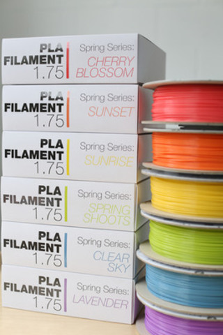 All filament series can now be purchased on Tinkerine website at http://www.tinkerine.com/store/filament/pla-filament. (CNW Group/Tinkerine Studios Ltd.)